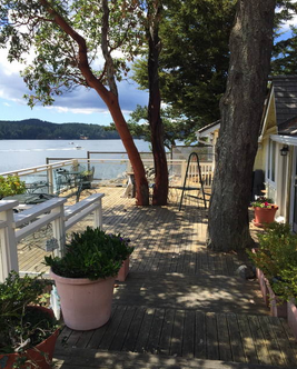 orcas island waterfront cottage